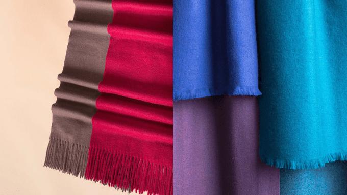 Knett-Schal aus Cashmere