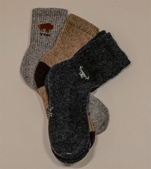 Yak und Camel Wolle aus der Mongolei Yak D.braun YAKWOLLE Socken 44-46 Grosse