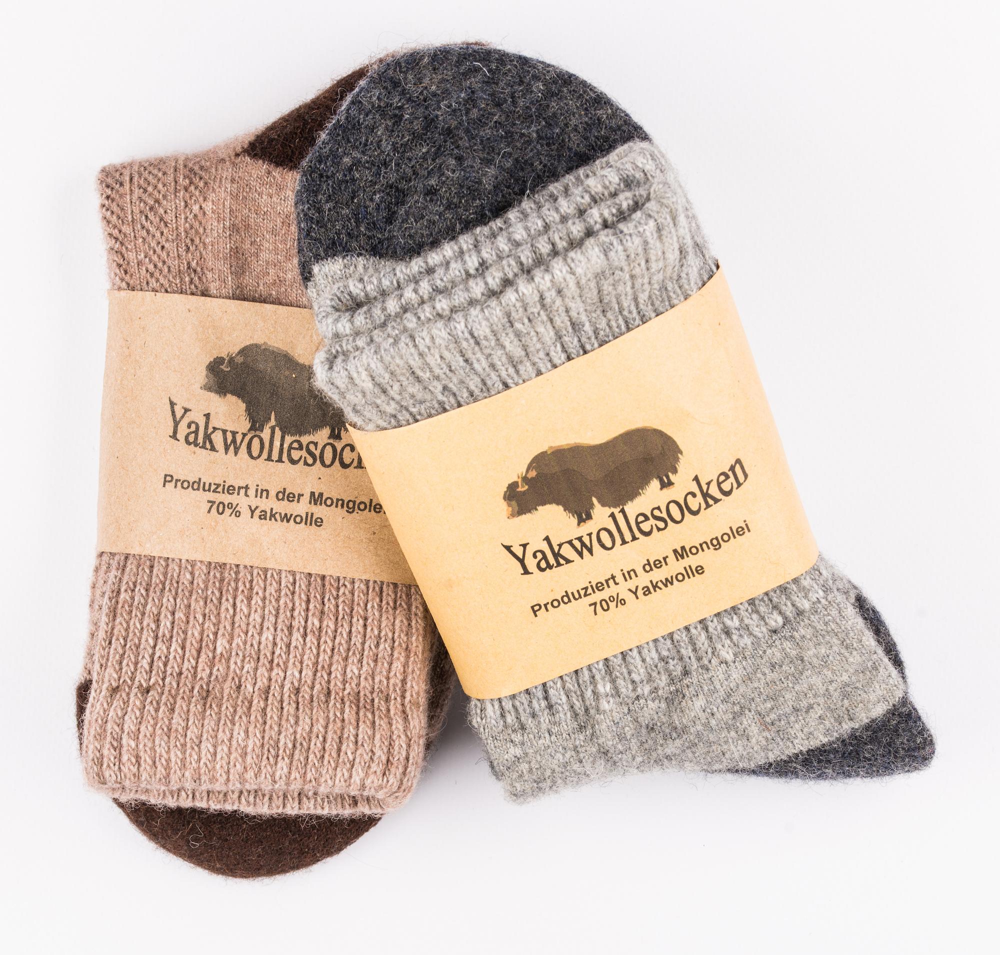 Yak Wolle Socken mit Banderolle
